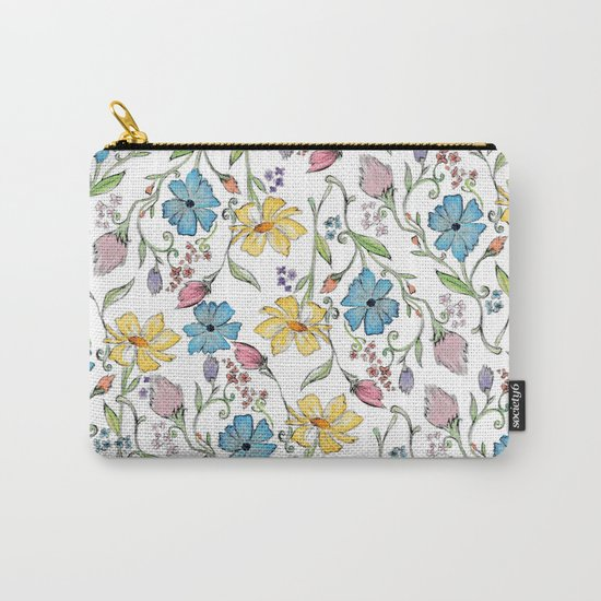 Spring flowers pattern - watercolor Carry-All Pouch