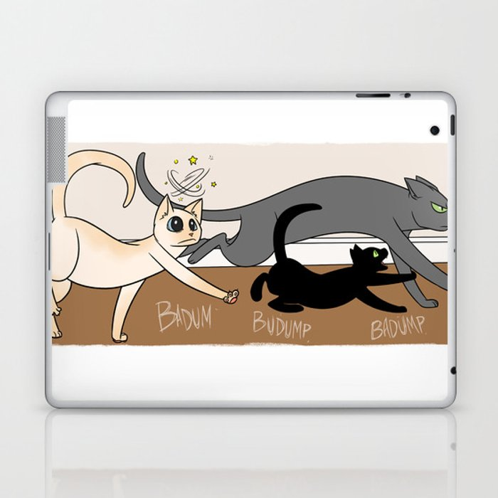 Furred Frenzy - Cat Rampage Laptop & iPad Skin