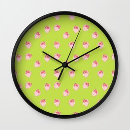 Pink Tulip Wall Clock
