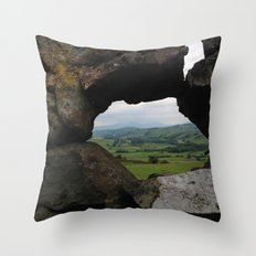 Rock Wall Window Throw Pillow
