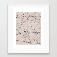 dazed and confused Framed Art Prints featuring Dazed + Confused [Cream] by Galaxy Eyes