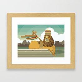 Judah Lion Framed Art Print