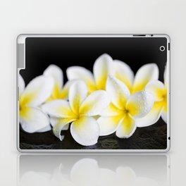 Plumeria obtusa Singapore White Laptop & iPad Skin
