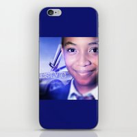 model iPhone & iPod Skins featuring Model by Azeez Olayinka Gloriousclick