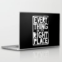 radiohead Laptop & iPad Skins featuring Everything in Its Right Place - Radiohead by Bastien13