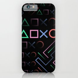 Playstation Buttons Maze Lines iPhone Case