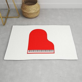 Red Grand Piano Rug