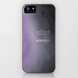 wander {violet iPhone Case