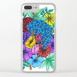 Floral Exuberance Clear iPhone Case