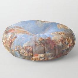 Fresco in the Palace of Versailles Floor Pillow