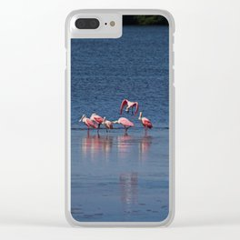 The Spoonbill Legend Lingers I Clear iPhone Case