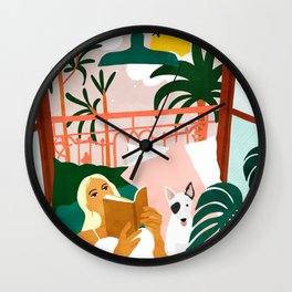 It doesn't matter where you're going, it's who you have beside you #painting #illustration Wall Clock
