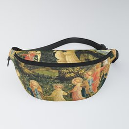 """Fra Angelico (Guido di Pietro) """"The Last Judgement, detail - The dance of the beatified"""" Fanny Pack"""