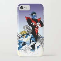 nightcrawler iPhone & iPod Cases featuring Angel & Demon by Apoken