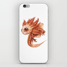 Pink Axolotl iPhone Skin