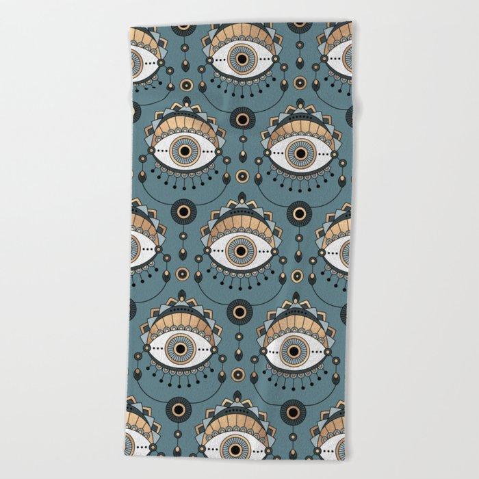 Eye Pattern 1 Beach Towel