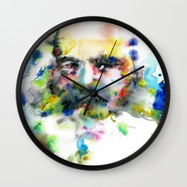 KARL MARX - watercolor portrait .3 Wall Clock