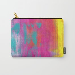 Neon Abstract Acrylic - Turquoise, Magenta & Yellow Carry-All Pouch