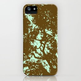 Mint and Brown Forest iPhone Case