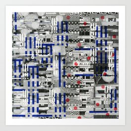 The Way of Invisible Things (P/D3 Glitch Collage Studies) Art Print