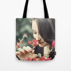 The Flower Lady Tote Bag