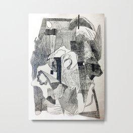 Etching #2 Metal Print