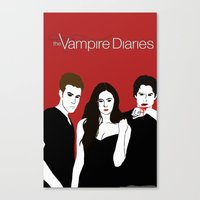 the vampire diaries Canvas Prints featuring The Vampire Diaries  by Chandler Payne