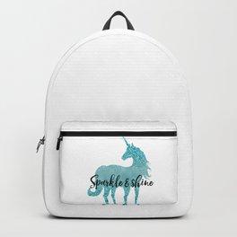 Glitz Aqua Unicorn Sparkle Backpack
