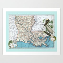 Louisiana Art Print