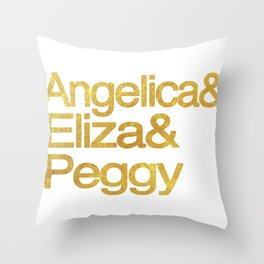 Eliza Schuyler Hamilton and her Sisters Angelica and Peggy Throw Pillow