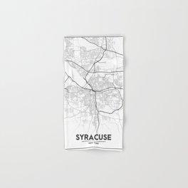 Minimal City Maps - Map Of Syracuse, New York, United States Hand & Bath Towel