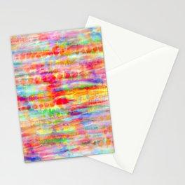 Light Rainbow Tie Dye Stripes Stationery Cards