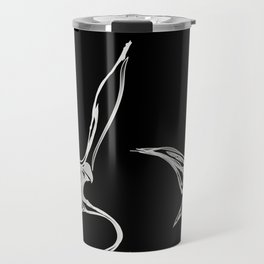 Swallow 1.White on black background (ZOOM) Travel Mug