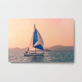 Yacht racing Metal Print
