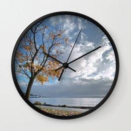 Autumn Seascape Wall Clock