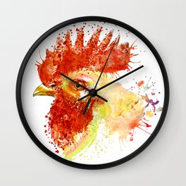 Rooster Head Wall Clock
