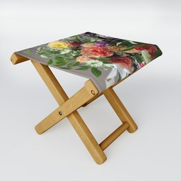 Flower Design 11 Folding Stool