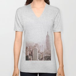 New York City Late Afternoon Unisex V-Neck