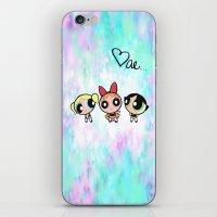 powerpuff girls iPhone & iPod Skins featuring Powerpuff Girls by Mind of Bae