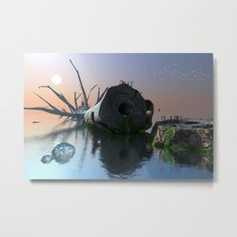 Where the Heartless Titan Lies Metal Print