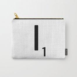 Letter I - Custom Scrabble Letter Tile Art - Scrabble I Carry-All Pouch