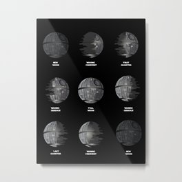 The Death Star Moon phase. Metal Print