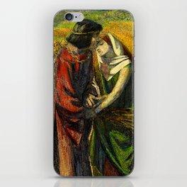 """Dante Gabriel Rossetti """"Ruth and Boaz"""" iPhone Skin"""