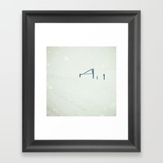 Blizzard Framed Art Print