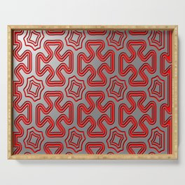 Christmas wrap pattern Serving Tray
