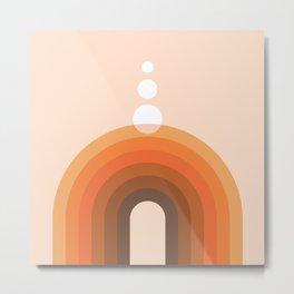 Mid Century Modern Geometric 19 (Rainbow and Rain) Metal Print