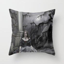 The Darkness Awaits Throw Pillow