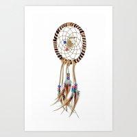 spiritual Art Prints featuring Spiritual Dreamcatcher by Bruce Stanfield Photographer