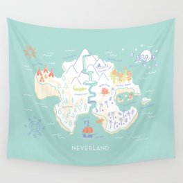 Neverland Map - Full Color Wall Tapestry