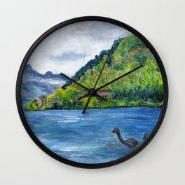 Loch Ness (with Nessie) Wall Clock